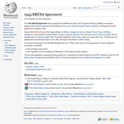1943 BRUSA Agreement