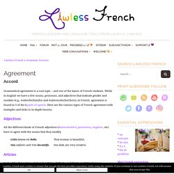 French Agreement - Lawless French Grammar - Grammatical Agreement