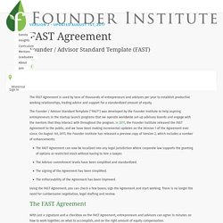 Use the FAST Agreement to Simplify your Advisory Relationship