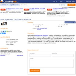 Loan Agreement Template South Africa