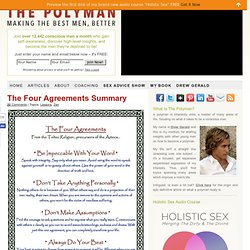 The Four Agreements Summary | The Polyman