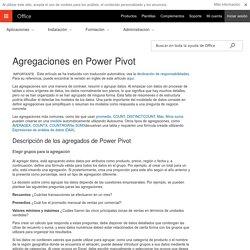 Agregaciones en Power Pivot - Excel