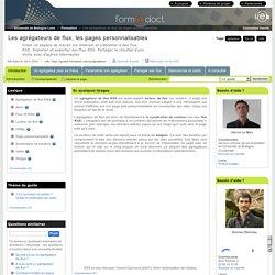 Les agrégateurs de flux, les pages personnalisables