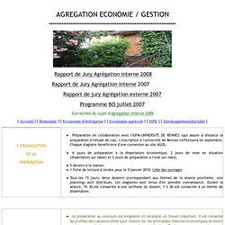 Agrégation Ecogestion