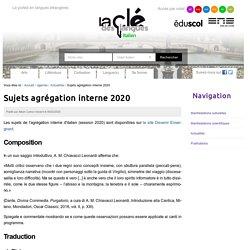Sujets agrégation interne 2020 — Italien