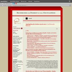 Agrégation de Lettres 2016‑2017 : Le Neveu de Rameau