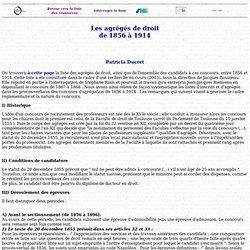 Agrégés de droit - Présentation de la recherche
