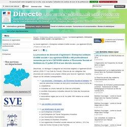 Le nouvel agrément « Entreprise solidaire d'utilité sociale » (ou agrément ESUS) - Direccte LANGMP