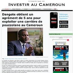 Dangote obtient un agrément de 5 ans pour exploiter une carrière de pouzzolane au Cameroun