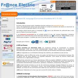 Agrément NF, marquage CE et normes d'installation NF C 15-100