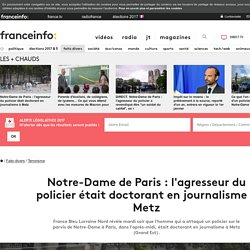 Notre-Dame de Paris : l'agresseur du policier était doctorant en journalisme à Metz
