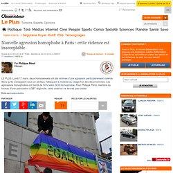 Nouvelle agression homophobe à Paris : cette violence est inacceptable