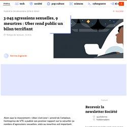 3 045 agressions sexuelles, 9 meurtres : Uber rend public un bilan terrifiant