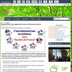AGRI53 22/09/14 Viandes de France : Des engagements des acteurs Mayennais ont été pris