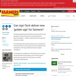 Can Agri-Tech deliver new 'golden age' for farmers?