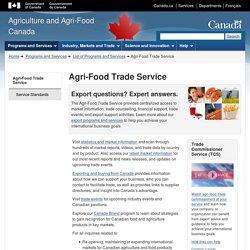 AGRICULTURE CANADA - 2014 – Au sommaire: Les tendances du marché des repas prêts à servir en Allemagne.