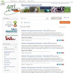 AGRIRESEAU - Bulletin info-agroenvironnement.