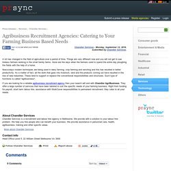 Agribusiness Recruitment Agency in Melbourne, Australia