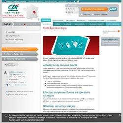Crédit agricole Centre-est - Crédit Agricole Centre-est - Accès aux comptes opérations en ligne