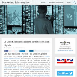 Crédit Agricole accélère sa transformation digitale