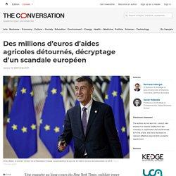 Des millions d'euros d'aides agricoles détournés, décryptage d'unscandale européen