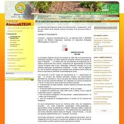 Le choix des matières organiques en arboriculture biologique
