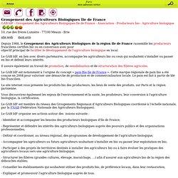 Groupement des Agriculteurs Biologiques Ile de France - Mobile