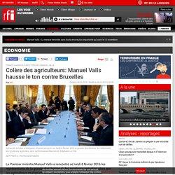 Colère des agriculteurs: Manuel Valls hausse le ton contre Bruxelles - Economie
