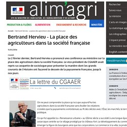 Bertrand Hervieu - La place des agriculteurs dans la société française