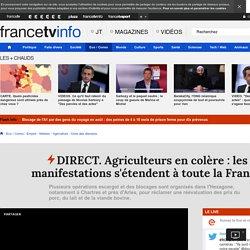 DIRECT. Agriculteurs en colère : les manifestations s'étendent à toute la France
