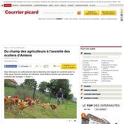 COURRIER PICARD 23/07/14 Du champ des agriculteurs à l'assiette des écoliers d'Amiens