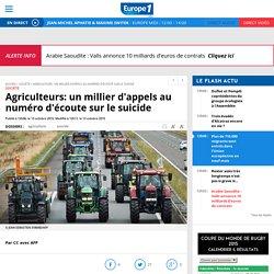 Agriculteurs: un millier d'appels au numéro d'écoute sur le suicide