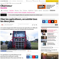 Chez les agriculteurs, un suicide tous les deux jours