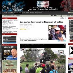 Les agriculteurs entre désespoir et colère