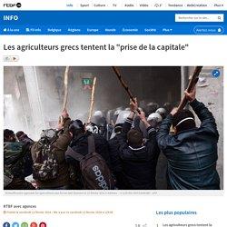 """Les agriculteurs grecs tentent la """"prise de la capitale"""""""