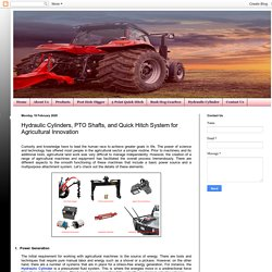 Hydraulic Cylinders, PTO Shafts, and Quick Hitch System for Agricultural Innovation