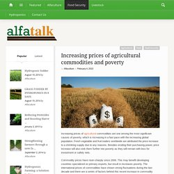 Increasing prices of agricultural commodities and poverty