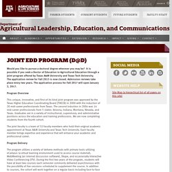 Agricultural Leadership, Education, and Communications