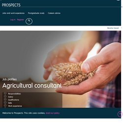 Agricultural consultant job profile
