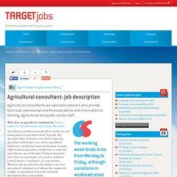 Agricultural consultant: job description