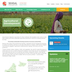 Agricultural Development Programme India –Sehgal Foundation