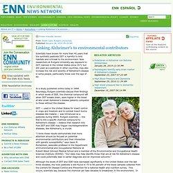 Linking Alzheimer's to environmental contributors