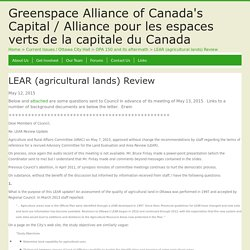 LEAR (agricultural lands) Review – Greenspace Alliance of Canada's Capital / Alliance pour les espaces verts de la capitale du Canada
