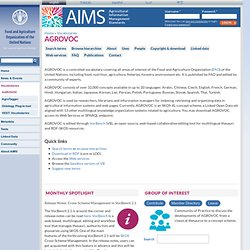 Agricultural Information Management Standards (AIMS)