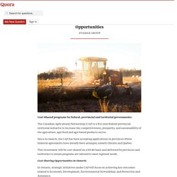 Canadian Agricultural Partnership Cost Sharing ... - Canadian Grants and Funding News - Quora