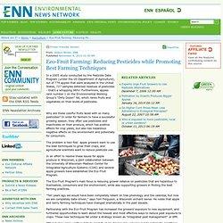 Eco-Fruit Farming: Reducing Pesticides while Promoting Best Farming Techniques