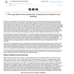 3. Why agricultural water productivity is important for the global water challenge