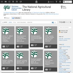 The National Agricultural Library : Free Texts : Download & Streaming