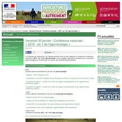 MAAF 29/01/15 Rapport annuel 2014 sur l'agro-écologie