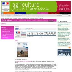 MAAF - JUIN 2015 - Rapport d'activité 2014 du CGAAER